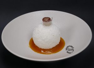 Boule coco-passion coulis mangue