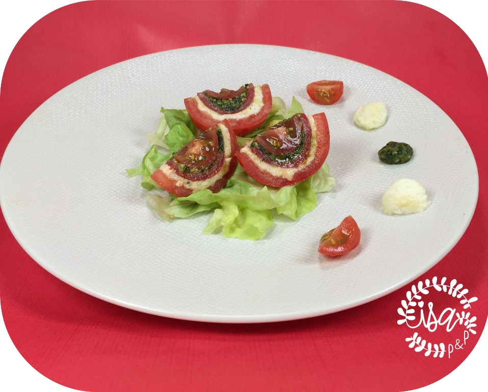 Tomate mozza et pesto basilic