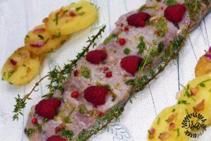 Ceviche de sardines aux framboises