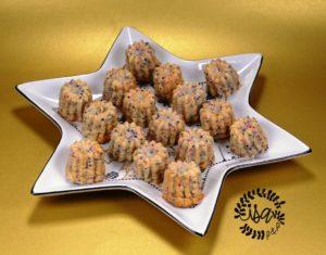 Minis cannelés asperges/œufs de lump