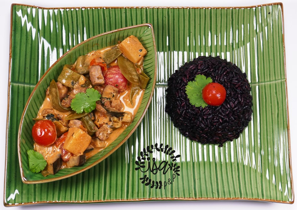 Curry rouge de dinde sucré/salé