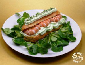 Éclairs aux langoustines et chantilly wasabi