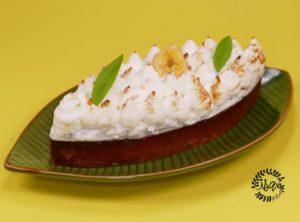 Tarte soufflée banane-verveine-citronnelle par C.Grolet