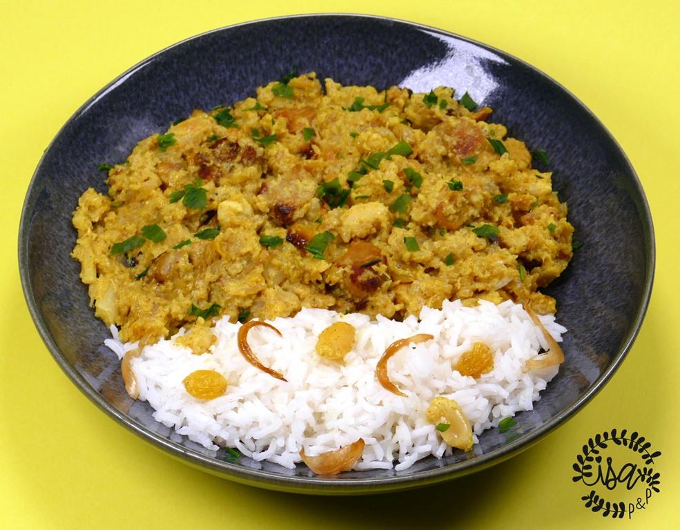 Curry de dinde au chou-fleur
