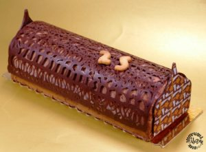 La bûche chocolat et joli thym