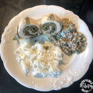 Escalopes fourrées à la duxelles de champignons & sauge