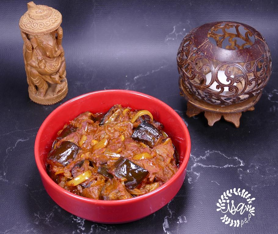 Curry d'aubergines à l'Indienne