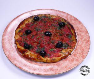 Pizza tomates façon Tatin