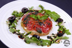 Tatin de tomates mozzarella