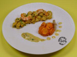 Poulet & crevettes sauce vanille/combawa