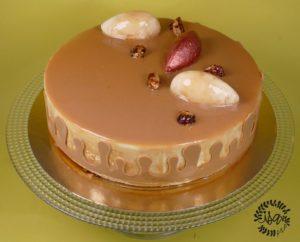Bavarois vanille insert caramel/cacahuètes