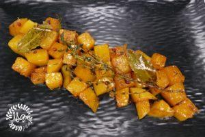 Poêlé de butternut au miel et thym
