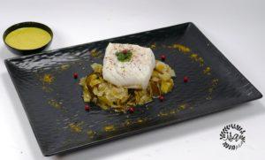 Cabillaud sur fondue de poireaux au curry