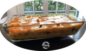 Gratin de butternut, jambon cru et Maroilles