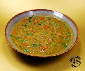 Soupe de lentilles au curry