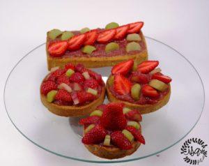 Tartelettes fraises et rhubarbe