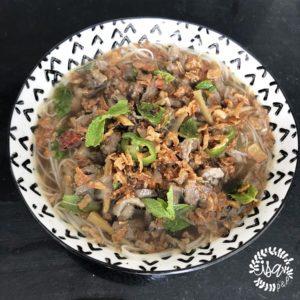 Bouillon de canard vanillé et nouilles chinoises