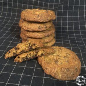 Cookies sarrasin, pistache et chocolat