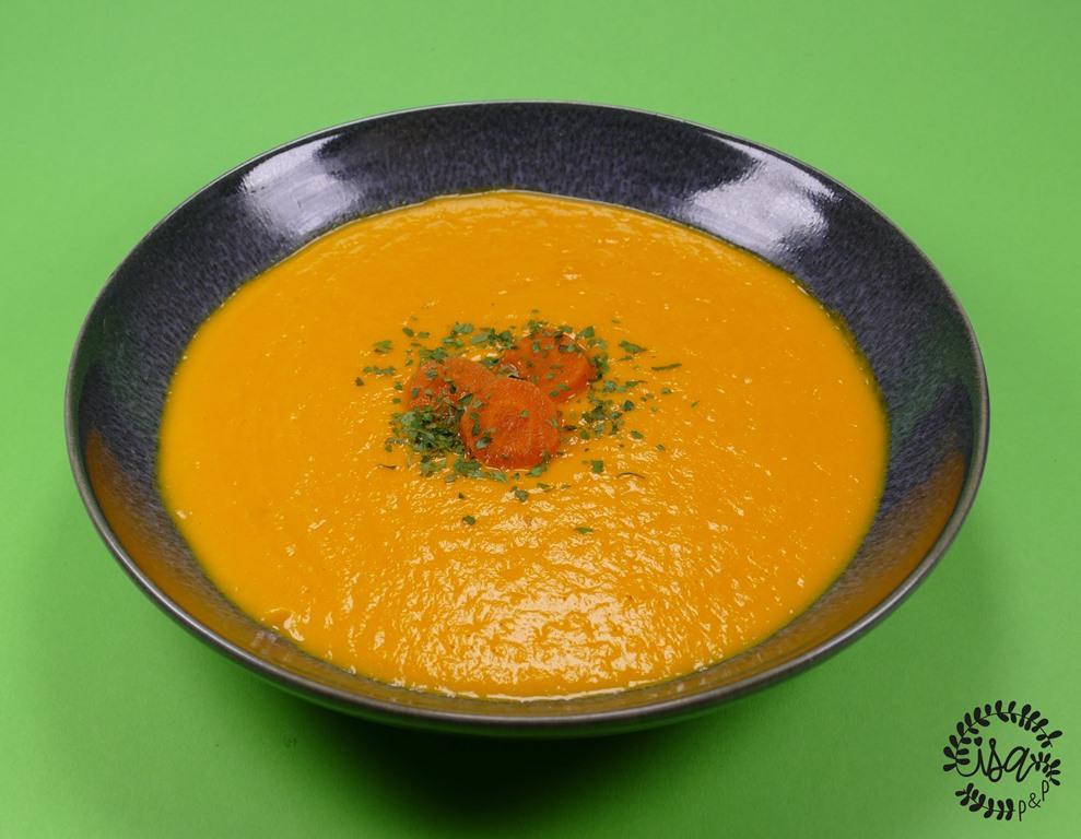 Soupe froide de carottes à l'orange et cumin