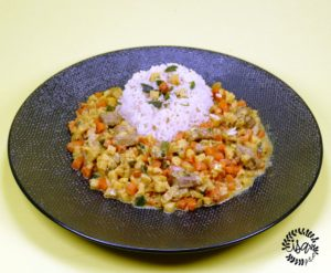 Curry de dinde aux panais et carottes